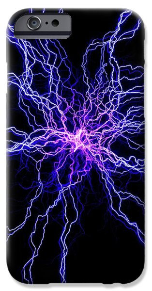 High Voltage Discharge IPhone Case by David Parker