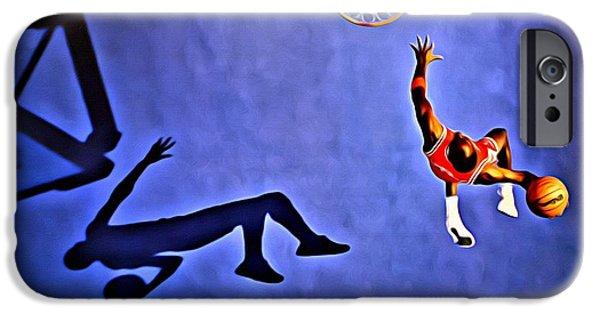 His Airness Michael Jordan IPhone Case by Florian Rodarte