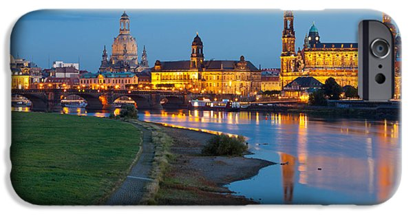 Historic Center Of Dresden At Dusk IPhone Case by Panoramic Images