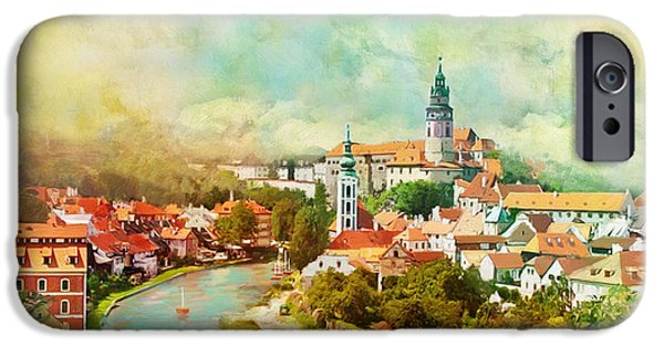 Historic Centre Of Cesky Krumlov IPhone Case by Catf