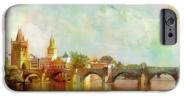 Historic Centre Of Prague  IPhone Case by Catf