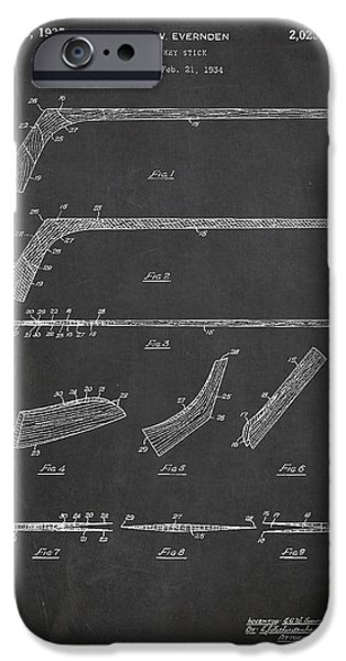Hockey Stick Patent Drawing From 1934 IPhone 6s Case by Aged Pixel