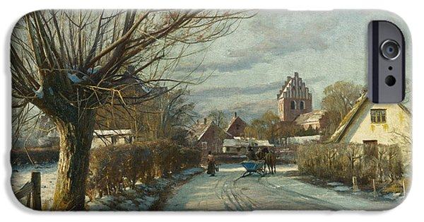 Hoje Taastrup Church Outside Copenhagen IPhone Case by Peder Monsted