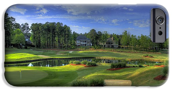 Holes 2 And 3 At The Landing In Reynolds Plantation IPhone Case by Reid Callaway