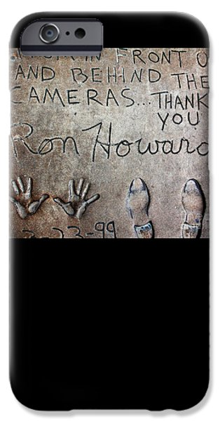 Hollywood Chinese Theatre Ron Howard 5d29035 IPhone Case by Wingsdomain Art and Photography