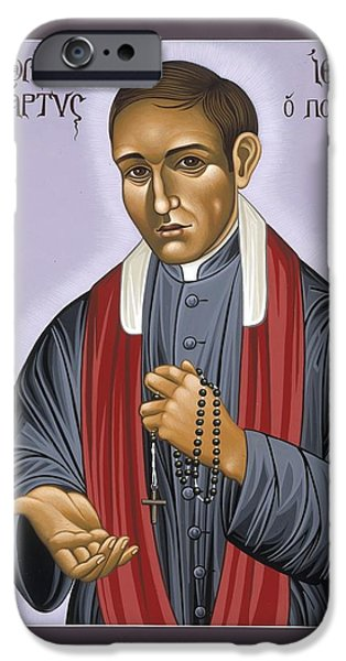 Holy New Martyr Father Jerzy Popieluszko 030 IPhone Case by William Hart McNichols