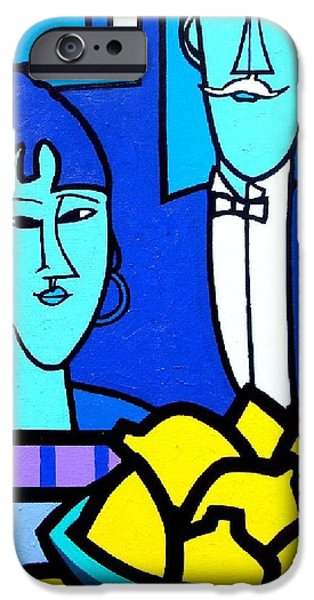 Homage To Modigliani IPhone Case by John  Nolan