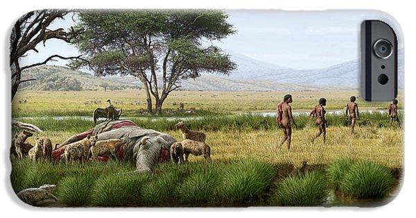 Homo Ergaster Hunters IPhone 6s Case by Mauricio Anton