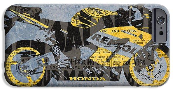 Honda Cbr1000 - Old Newspaper Cuts IPhone Case by Pablo Franchi