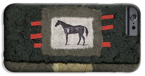 Horse Collage IPhone Case by Carol Leigh