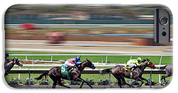 Horse Racing IPhone Case by Christine Till