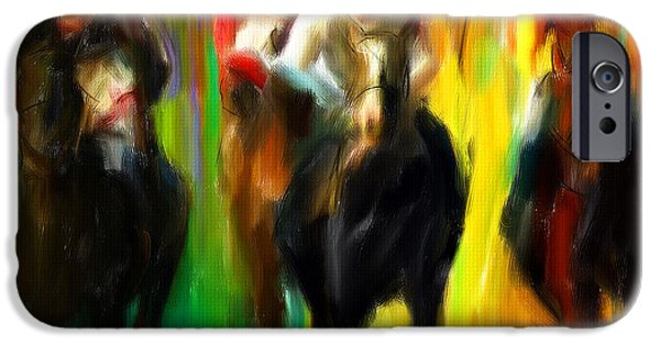 Horse Racing IIi IPhone Case by Lourry Legarde