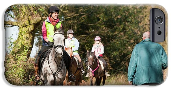 Horse Trekking And Walking IPhone Case by Ashley Cooper