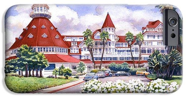 Hotel Del Coronado After Rain IPhone Case by Mary Helmreich