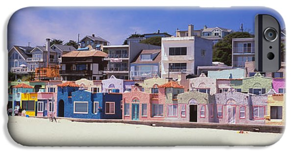 Houses On The Beach, Capitola, Santa IPhone Case by Panoramic Images