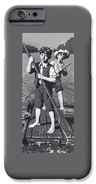 Huckleberry Finn And Tom Sawyer  IPhone Case by English School