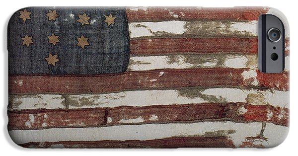 Hulbert Flag Early Us Flag 1776 IPhone Case by Photo Researchers