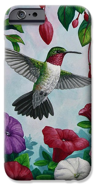 Hummingbird Greeting Card 2 IPhone Case by Crista Forest