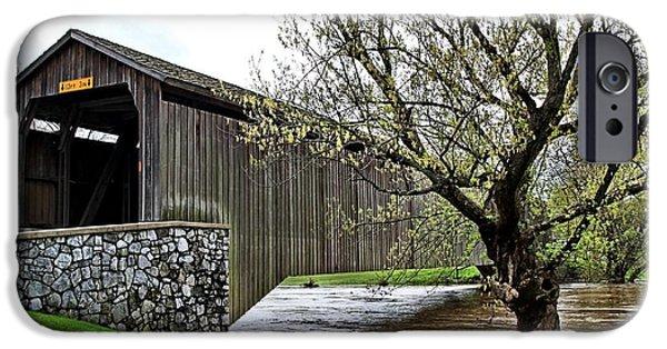 Hunsecker's Mill Covered Bridge IPhone Case by DJ Florek