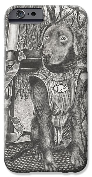 Hunting Partner IPhone Case by Jon Cotroneo