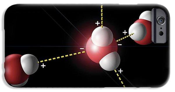 Hydrogen Bonding In Water IPhone Case by Carlos Clarivan