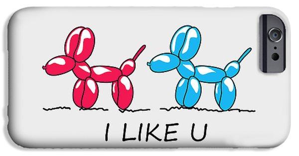 I Like U  IPhone Case by Mark Ashkenazi