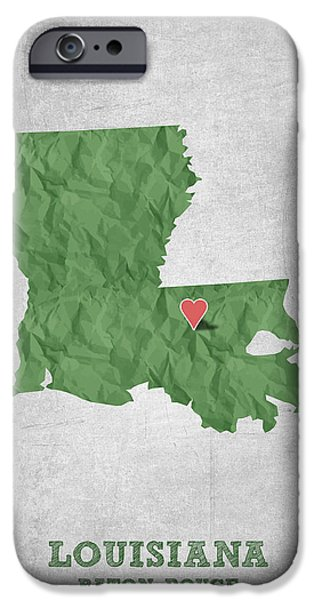 I Love Baton Rouge Louisiana - Green IPhone 6s Case by Aged Pixel