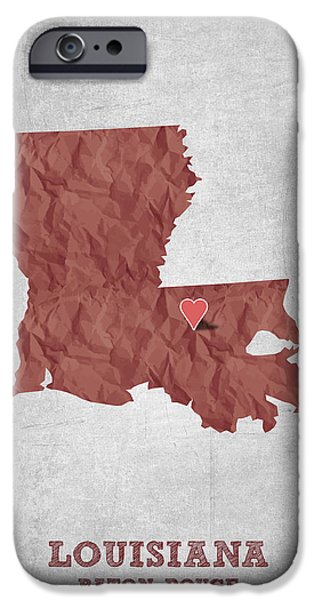 I Love Baton Rouge Louisiana - Red IPhone 6s Case by Aged Pixel