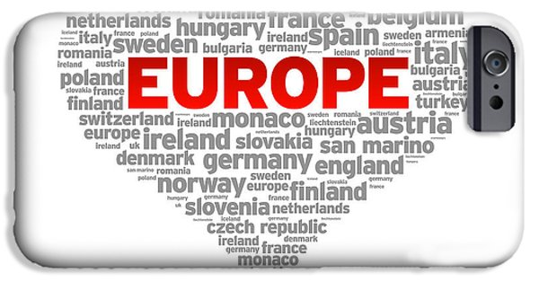 I Love Europe IPhone Case by Aged Pixel