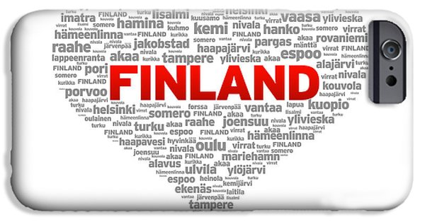 I Love Finland IPhone Case by Aged Pixel