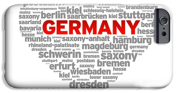 I Love Germany IPhone Case by Aged Pixel