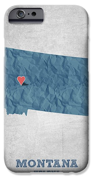 I Love Helena Montana - Blue IPhone Case by Aged Pixel