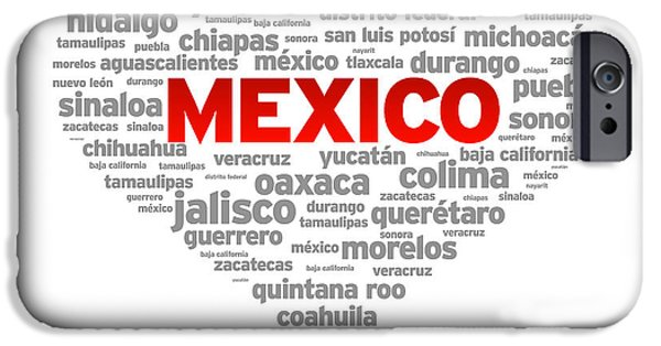 I Love Mexico IPhone Case by Aged Pixel