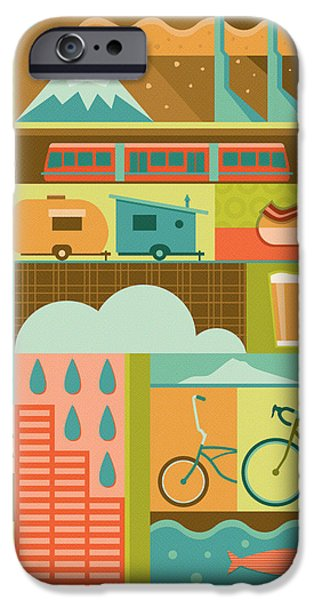 Iconic Portland IPhone Case by Mitch Frey
