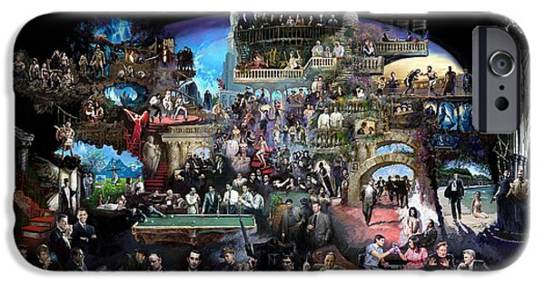 Icons Of History And Entertainment IPhone Case by Ylli Haruni