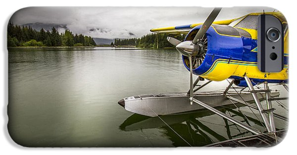 Idle Float Plane At Juneau Airport IPhone Case by Darcy Michaelchuk