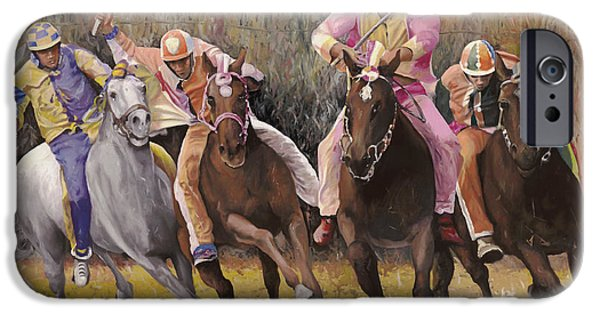 il palio dell'Assunta IPhone Case by Guido Borelli