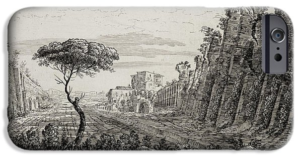 Image Of Italian Countryside Around Rome. IPhone Case by British Library