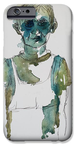 In A Trance IPhone Case by Tina Pitsiavas