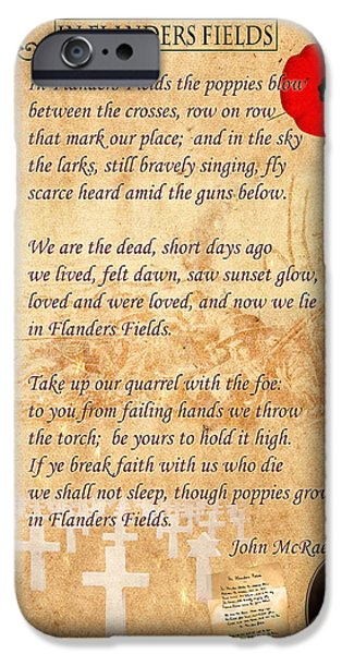 In Flanders Fields IPhone Case by Andrew Fare