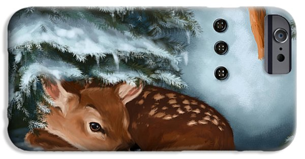 In The Snow IPhone Case by Veronica Minozzi