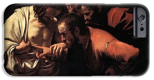 Incredulity Of Saint Thomas IPhone Case by Michelangelo Caravaggio