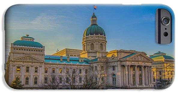 Indianapolis Indiana State House IPhone Case by David Haskett