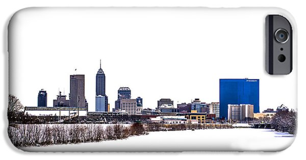 Indianapolis White Out IPhone Case by David Haskett
