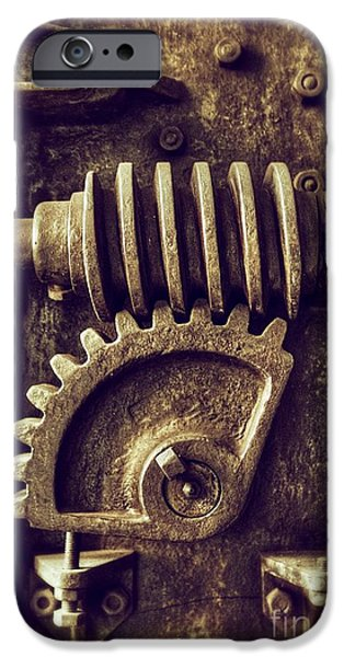 Industrial Sprockets IPhone Case by Carlos Caetano