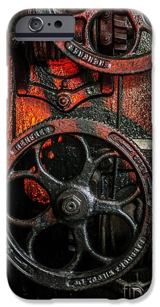 Industrial Wheels IPhone Case by Carlos Caetano