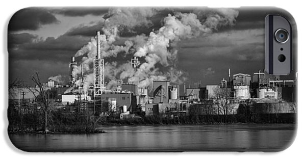 Industry In Black And White 1 IPhone Case by Thomas Young