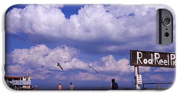 Information Board Of A Pier, Rod IPhone Case by Panoramic Images