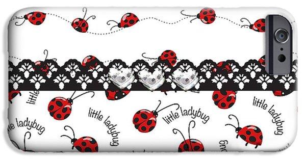 Innocent Ladybugs  IPhone 6s Case by Debra  Miller