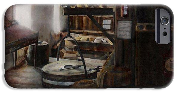 Inside The Flour Mill IPhone Case by Lori Brackett